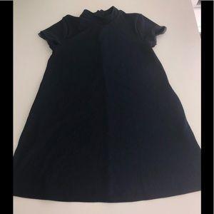 Simply vera wang navy blue shift fliral dress l